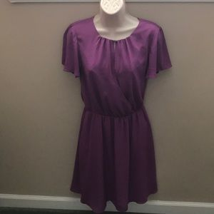 Lined purple dress